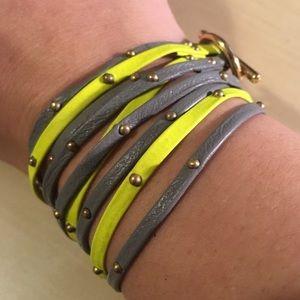 Gorjana Graham Triple Strand Neon Wrap Bracelet